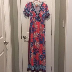 Tropical Maxi-Dress